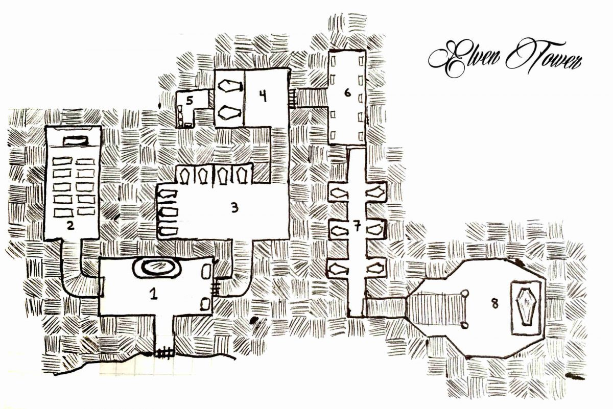 Family Catacombs D Amp D Map Elven Tower