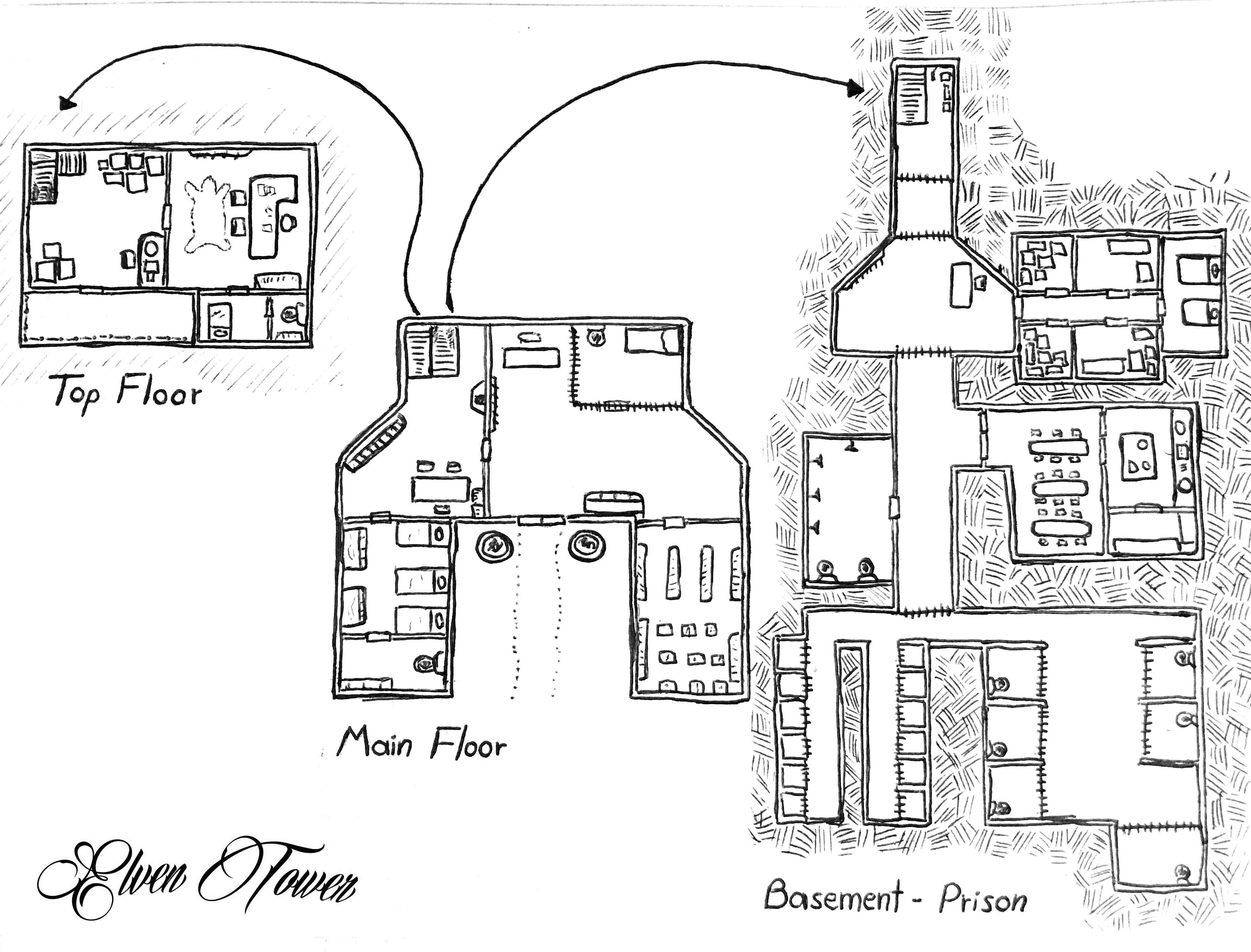 prison break map elven tower elven tower fire escape diagram