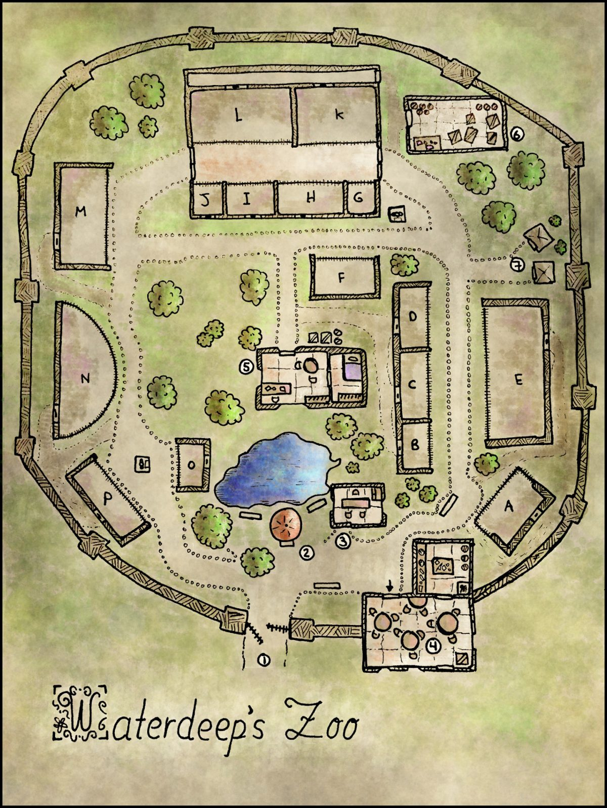 Map 18 – Waterdeep's Zoo