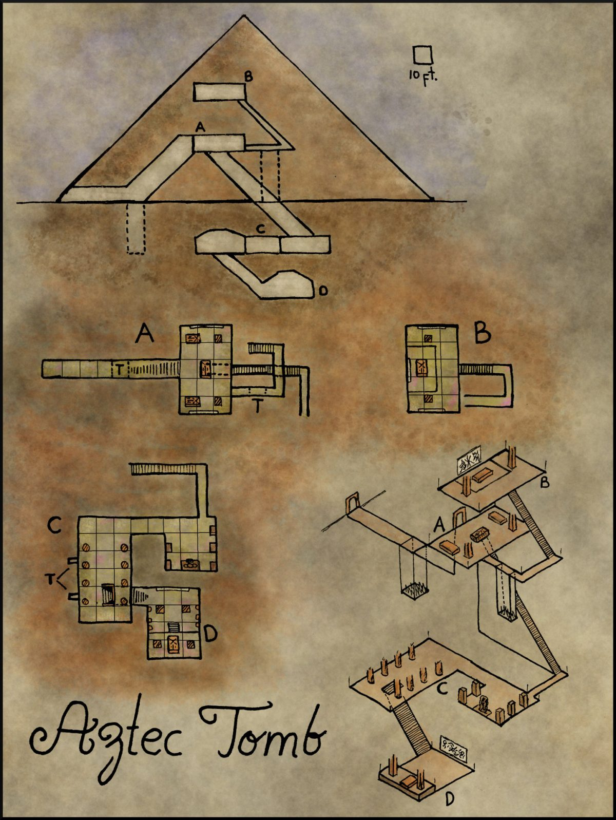 Map 20 Aztec Pyramid Elven Tower