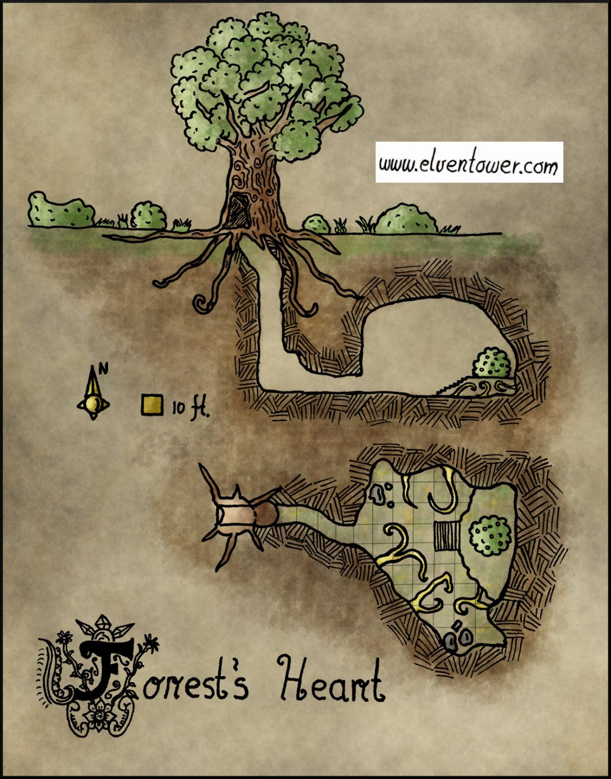 Map 24 – Forest's Heart