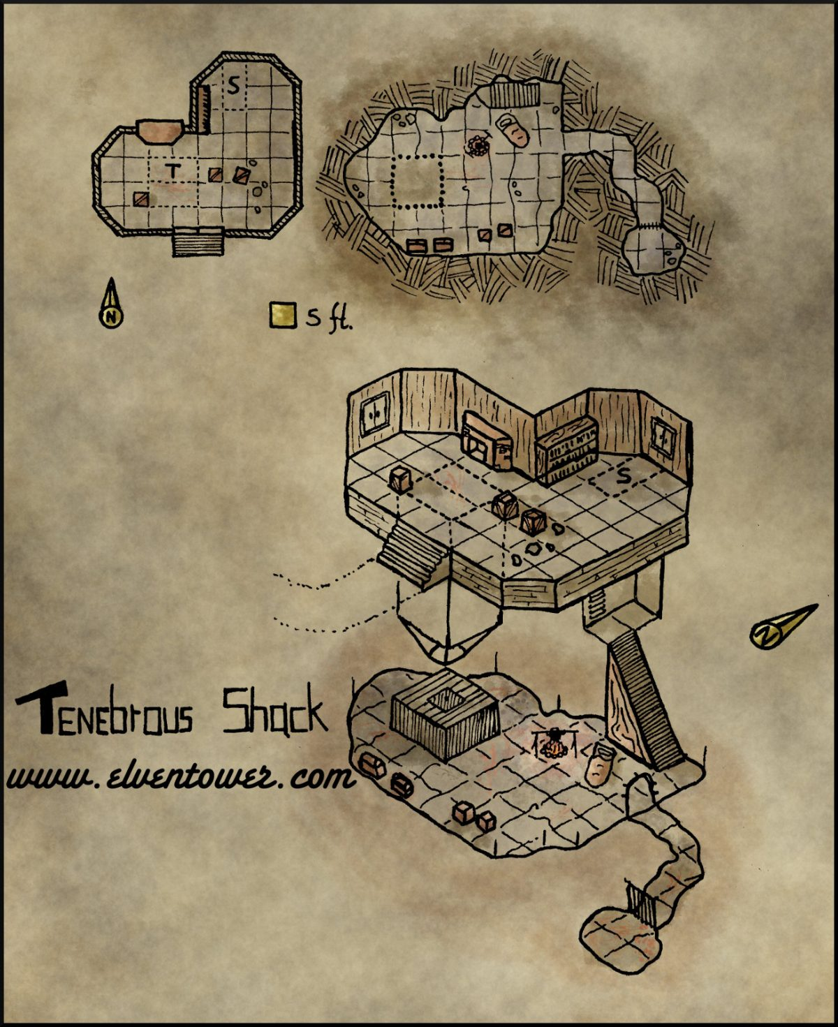 Map 25 – Tenebrous Shack
