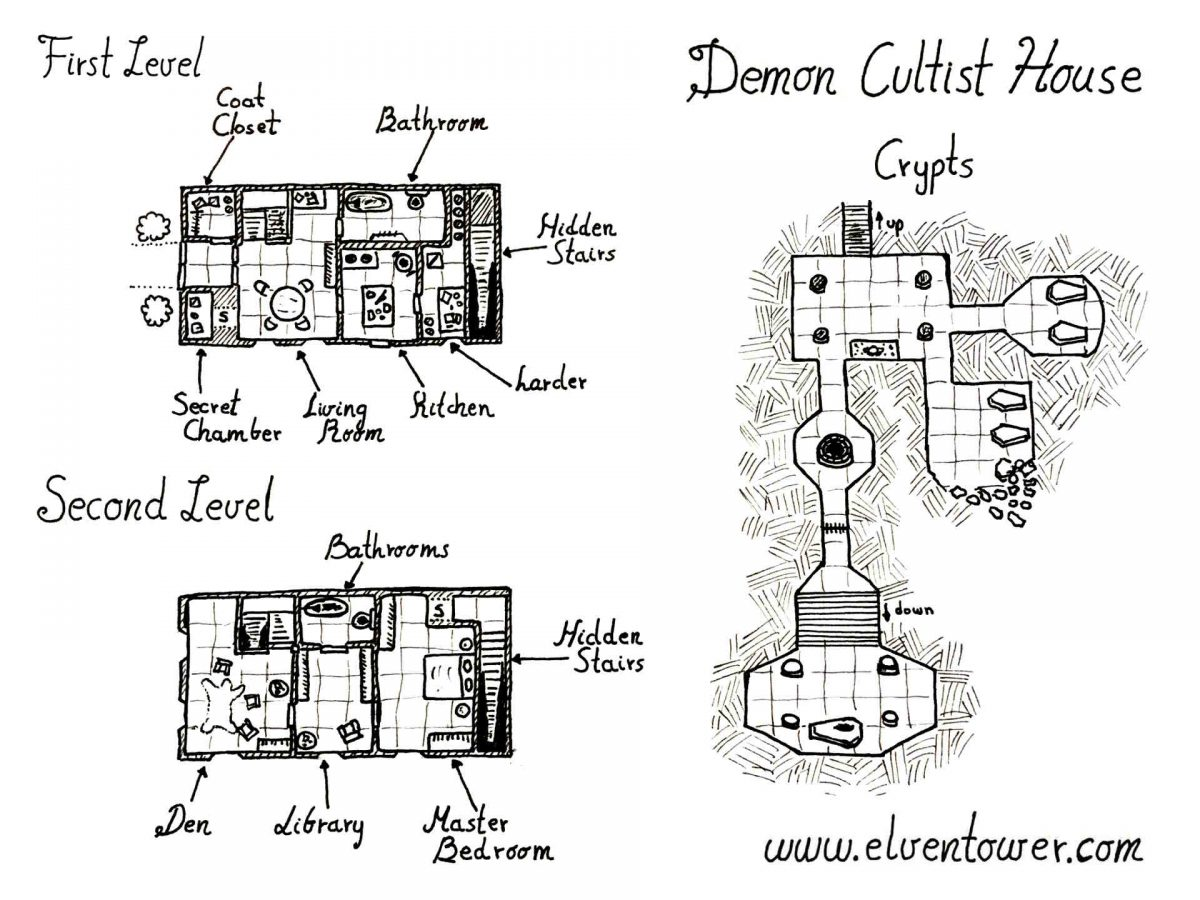 Demon Cultist House – Map