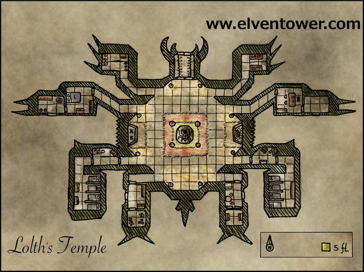 Map 28 – Lolth's Temple