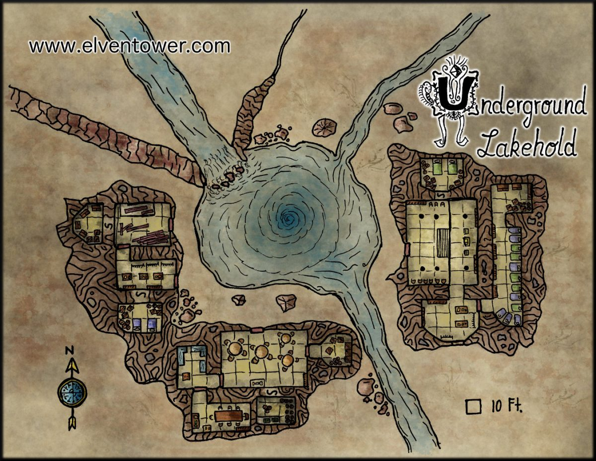 Map 35 – Underground Lakehold