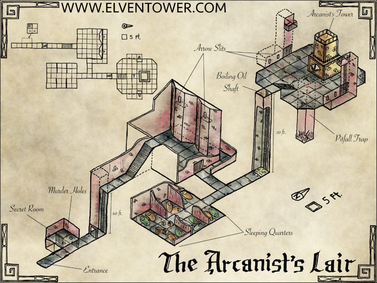 Map 42 – The Arcanist's Lair