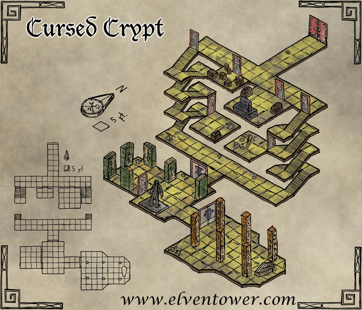 Cool Guy Bedrooms Map 46 Cursed Crypt Elven Tower Elven Tower
