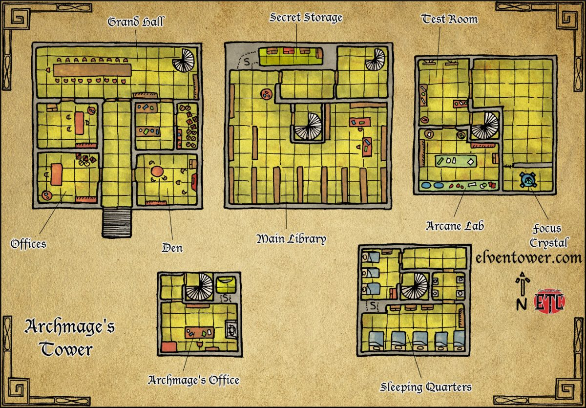 Map 51 – Archmage's Tower