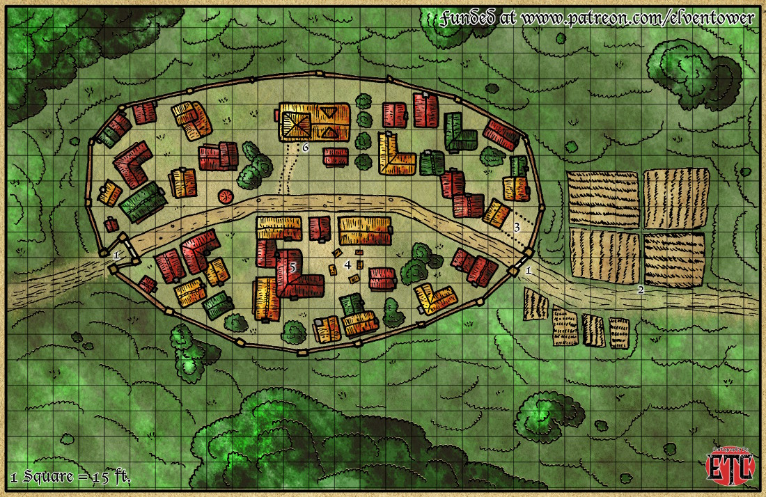 Map 61 – Walled Town
