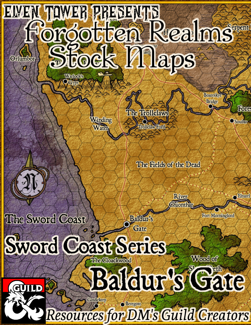Baldur's Gate Region –  Forgotten Realms Stock