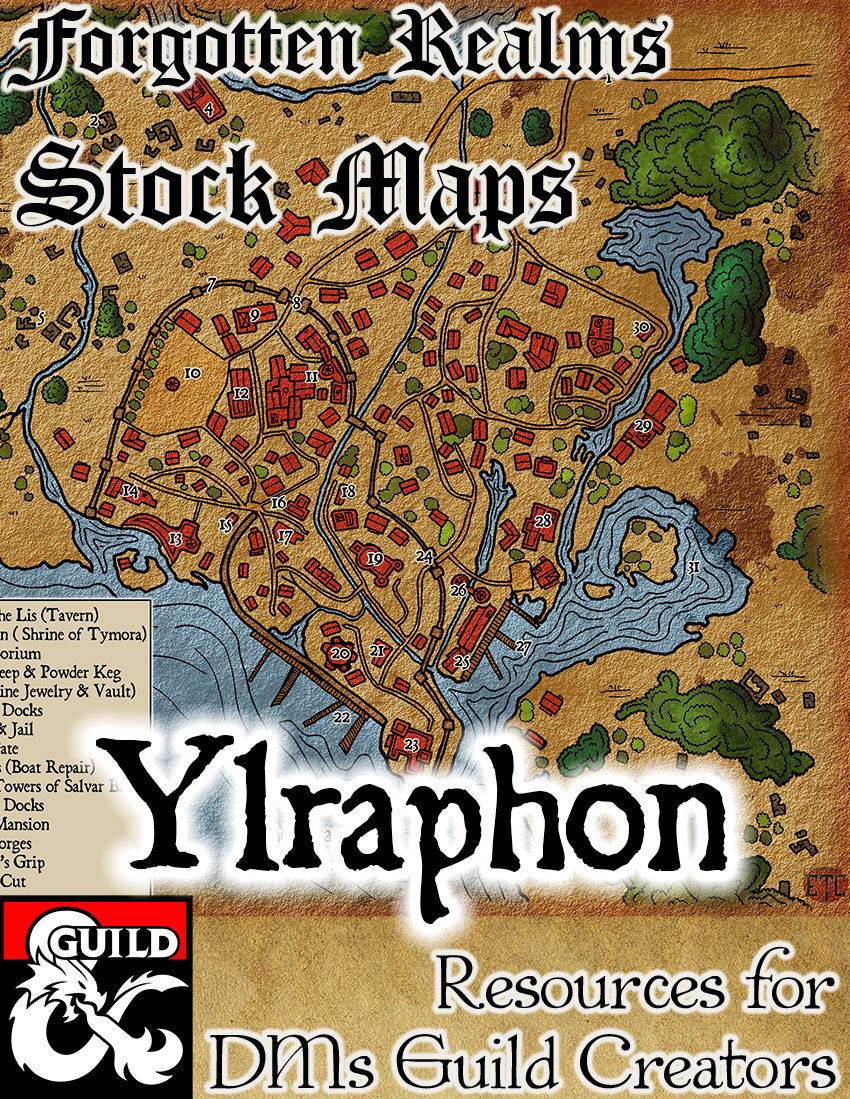 Forgotten Realms Stock maps | Elven Tower