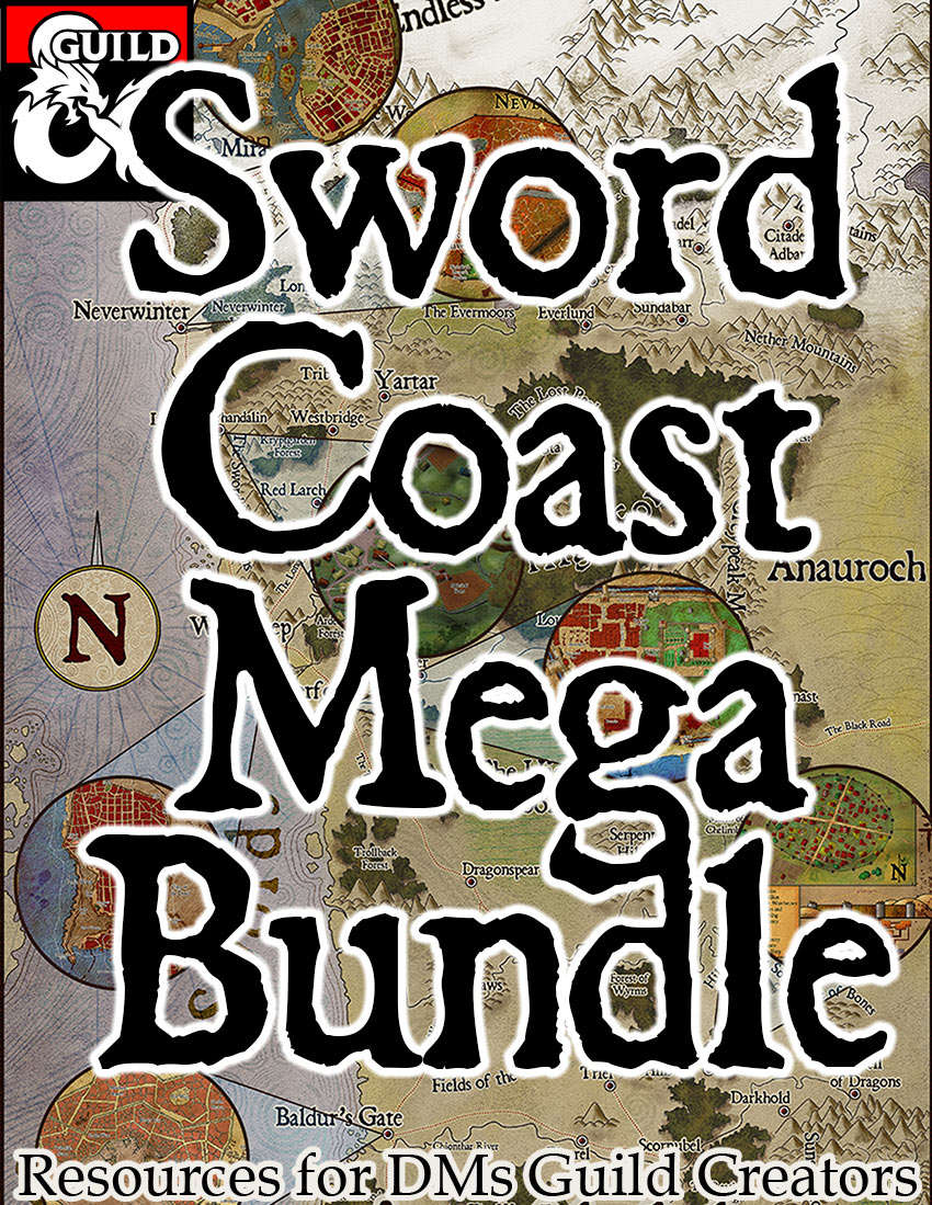 The Sword Coast MEGA bundle –  Forgotten Realms Stock