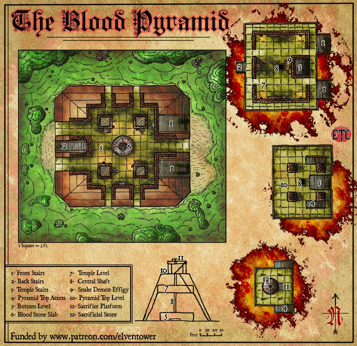 Map 70 – The Blood Pyramid