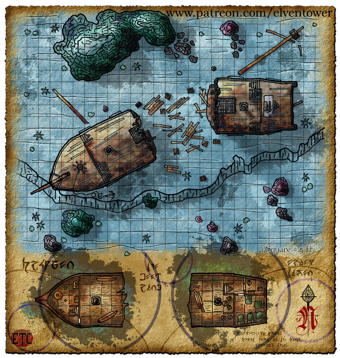 Map 71 – Sunken Ship