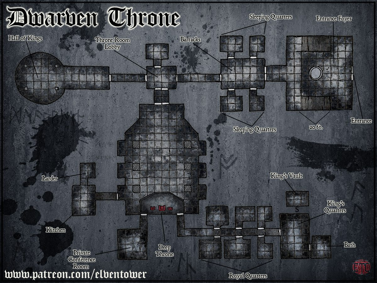 Map 77 – Dwarven Kingdom