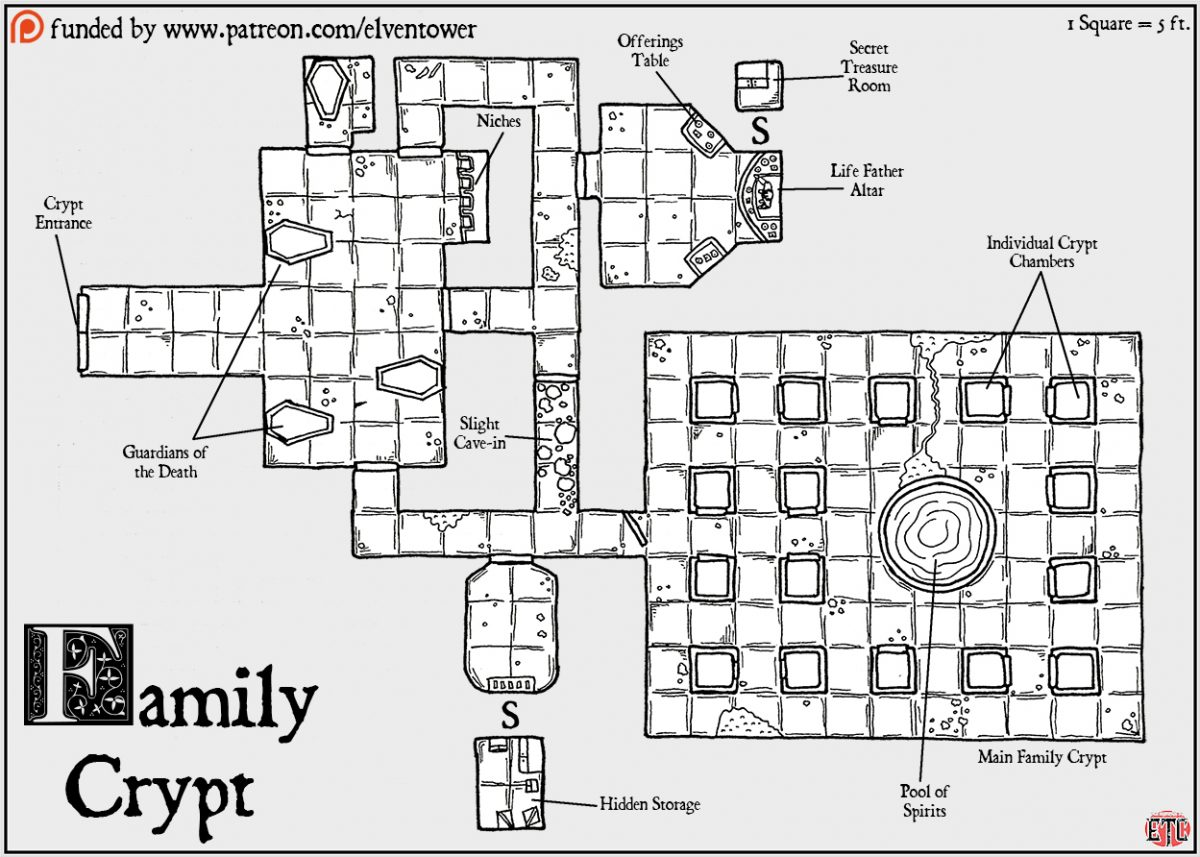Map 82 – Family Crypt