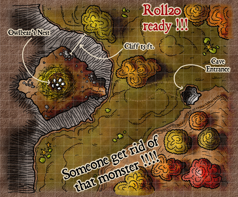 Map 85 – Owlbear's Nest