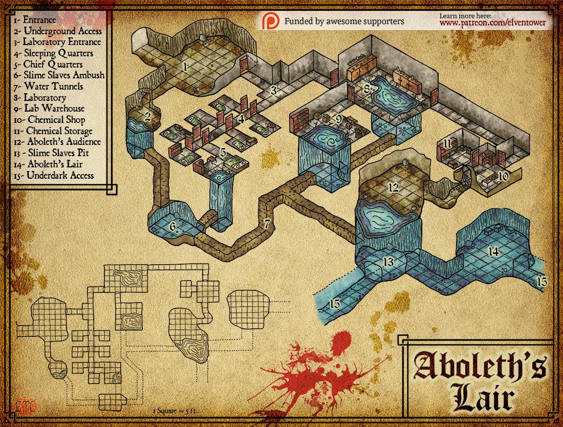 Map 88 – Aboleth's Lair