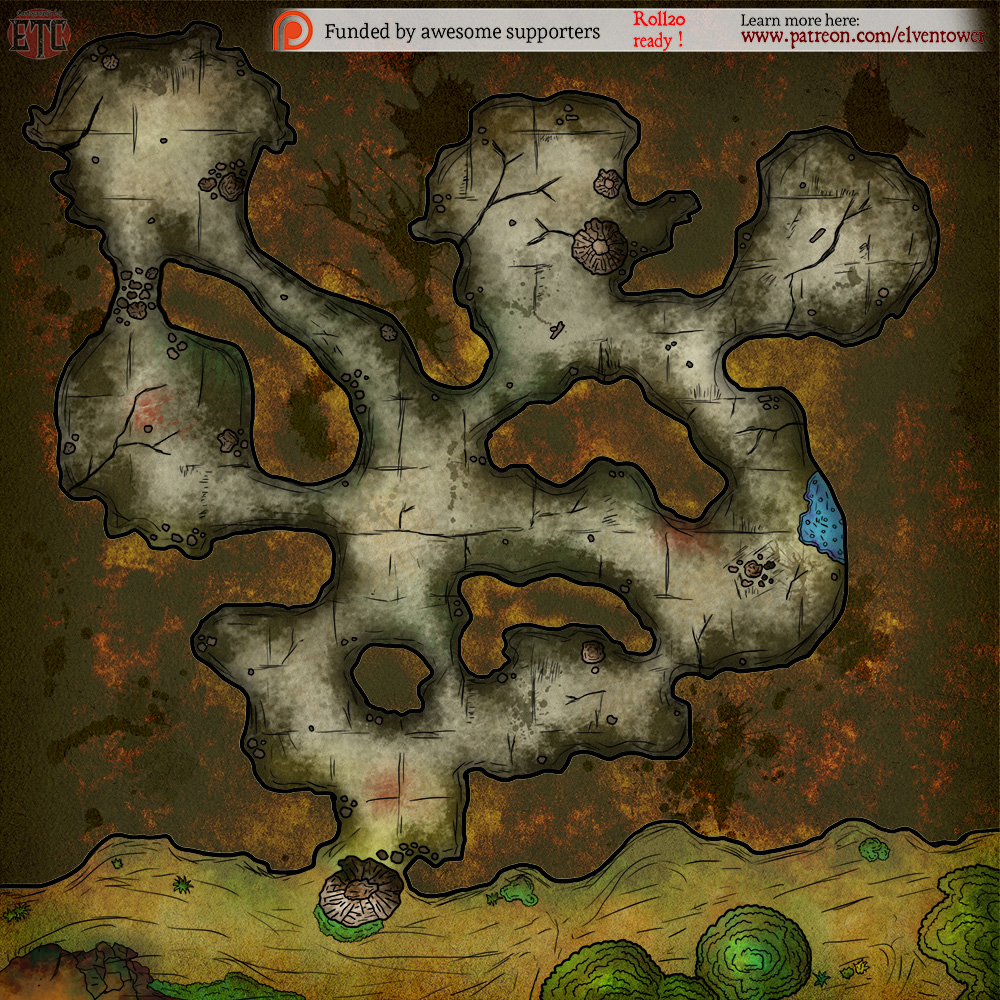 Map 89 - Undiscovered Cave | Elven Tower
