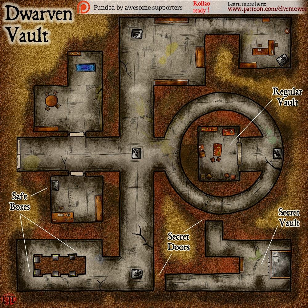 Map 91 – Dwarven Vault