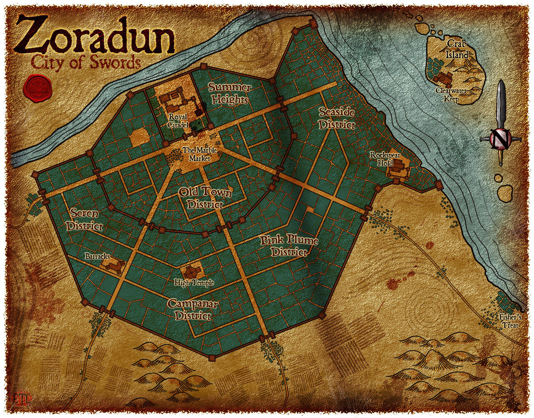 Map 100 – Zoradun, City of Swords