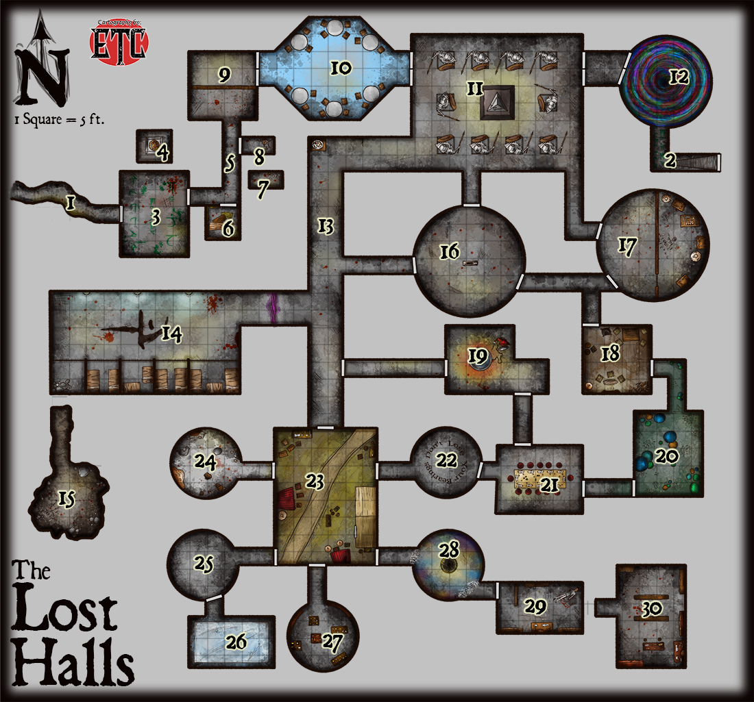 Collaboration Project – The Lost Halls – FREE PDF DOWNLOAD