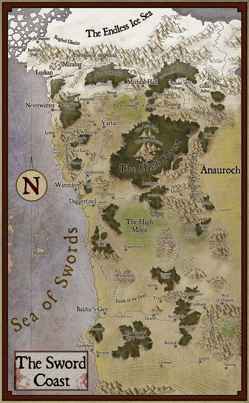 The sword coast forgotten realms stock maps dungeon masters make your modules and adventures stand out with awesome forgotten realm maps gumiabroncs Image collections