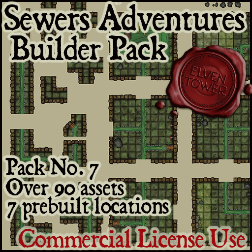 Pack No.7 – Sewers Adventures – Roll20