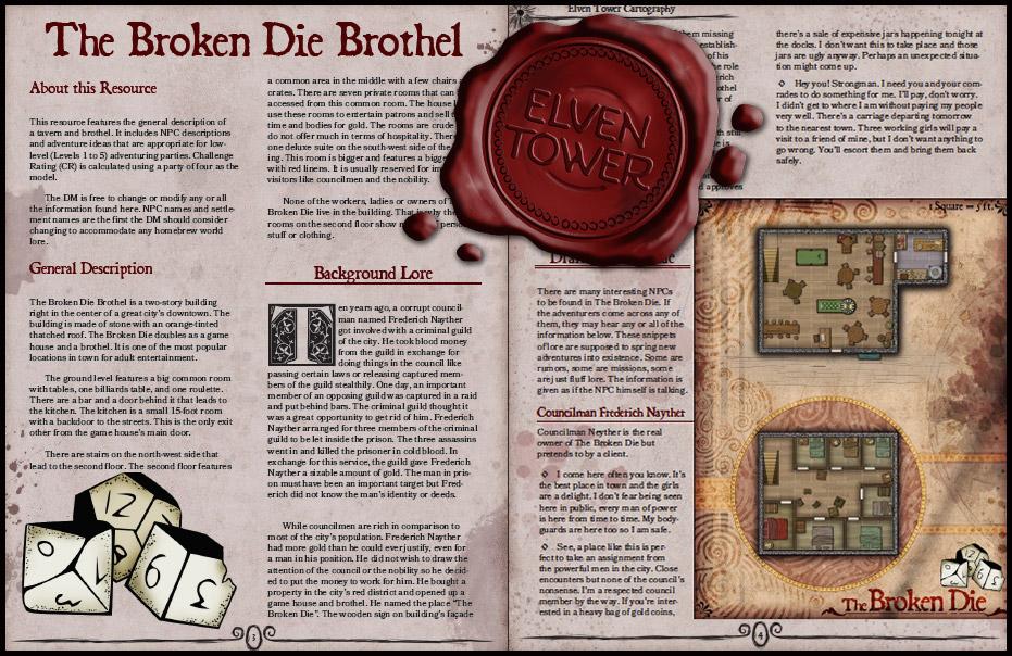 181 The Broken Die Brothel   Elven Tower