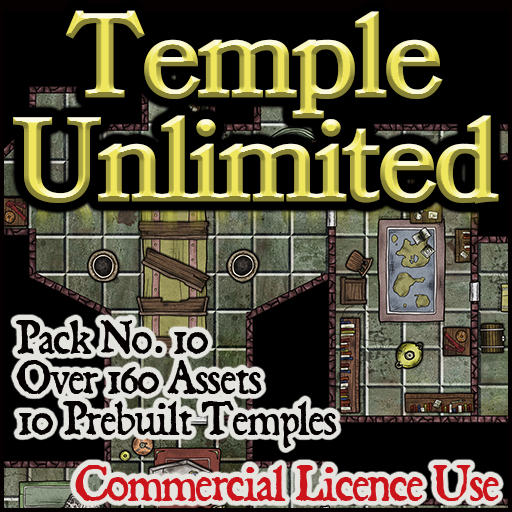 Pack No.10 – Temple Unlimited – Roll20