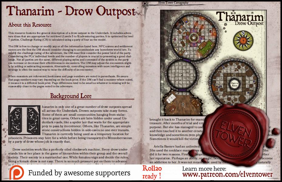 189 Thanarim - Drow Outpost | Elven Tower