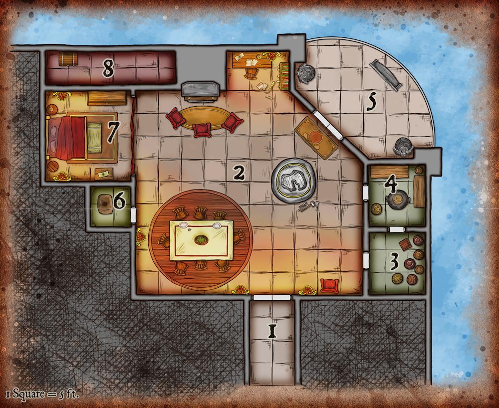208 Wealthy Dwarven House