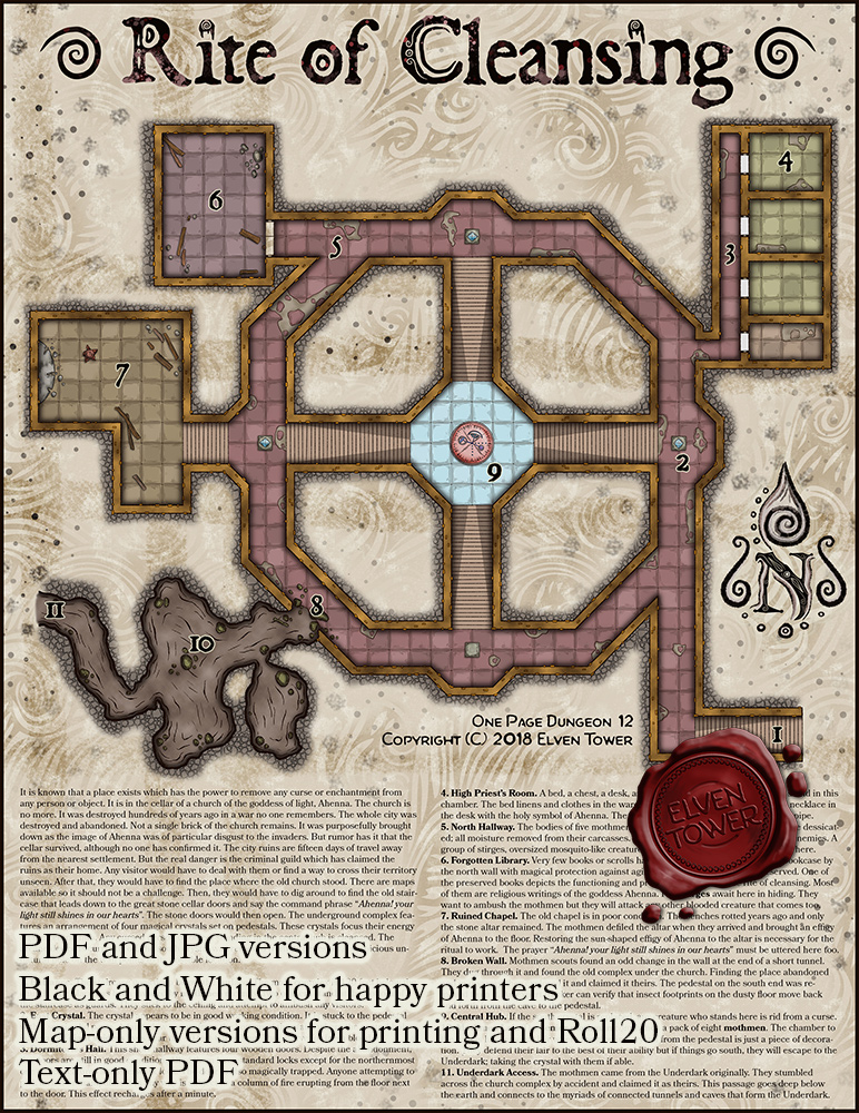 One Page Dungeon 12 – Rite of Cleansing