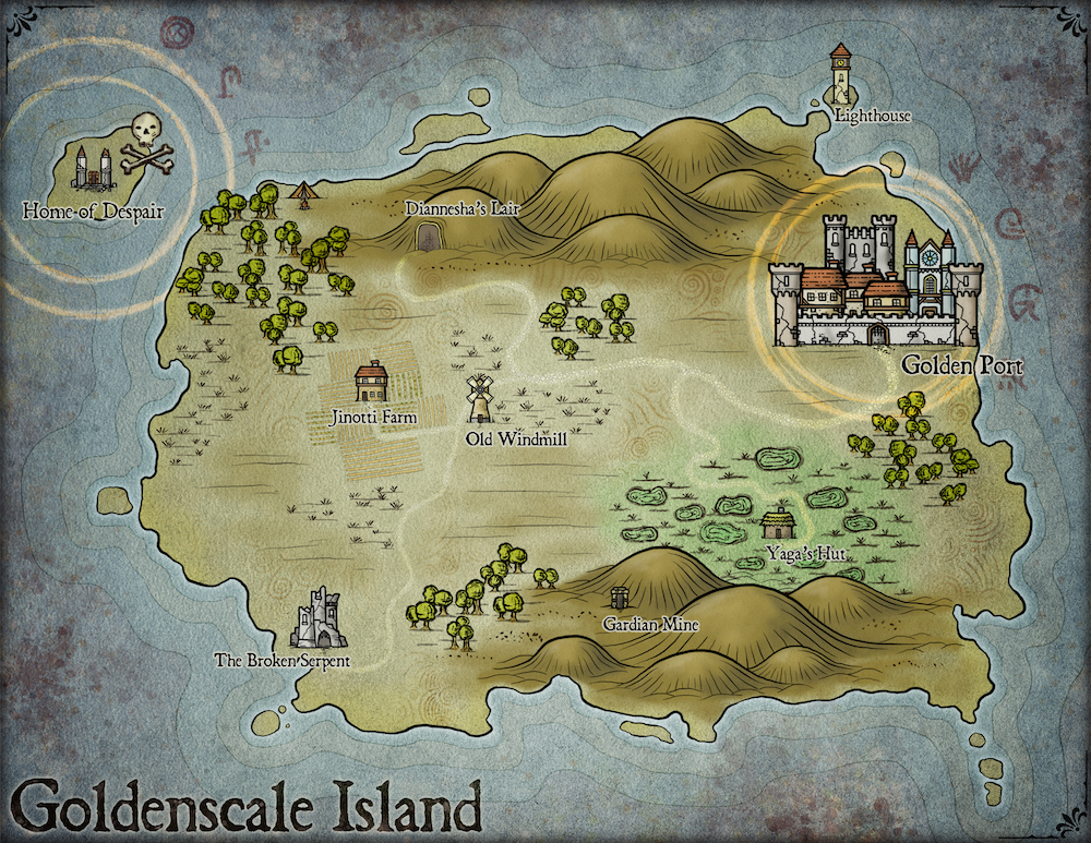 244 Goldenscale Island