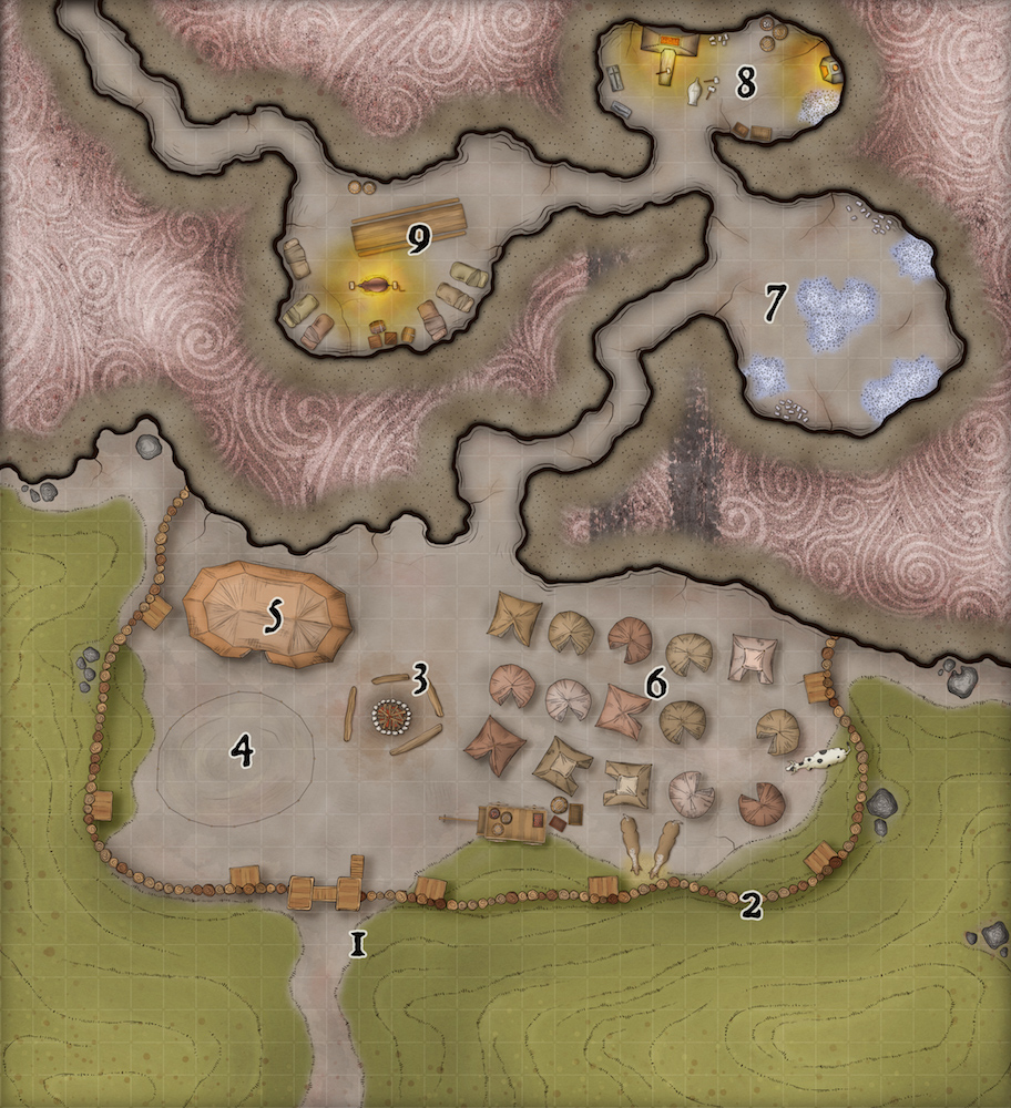 268 Mine Camp Map
