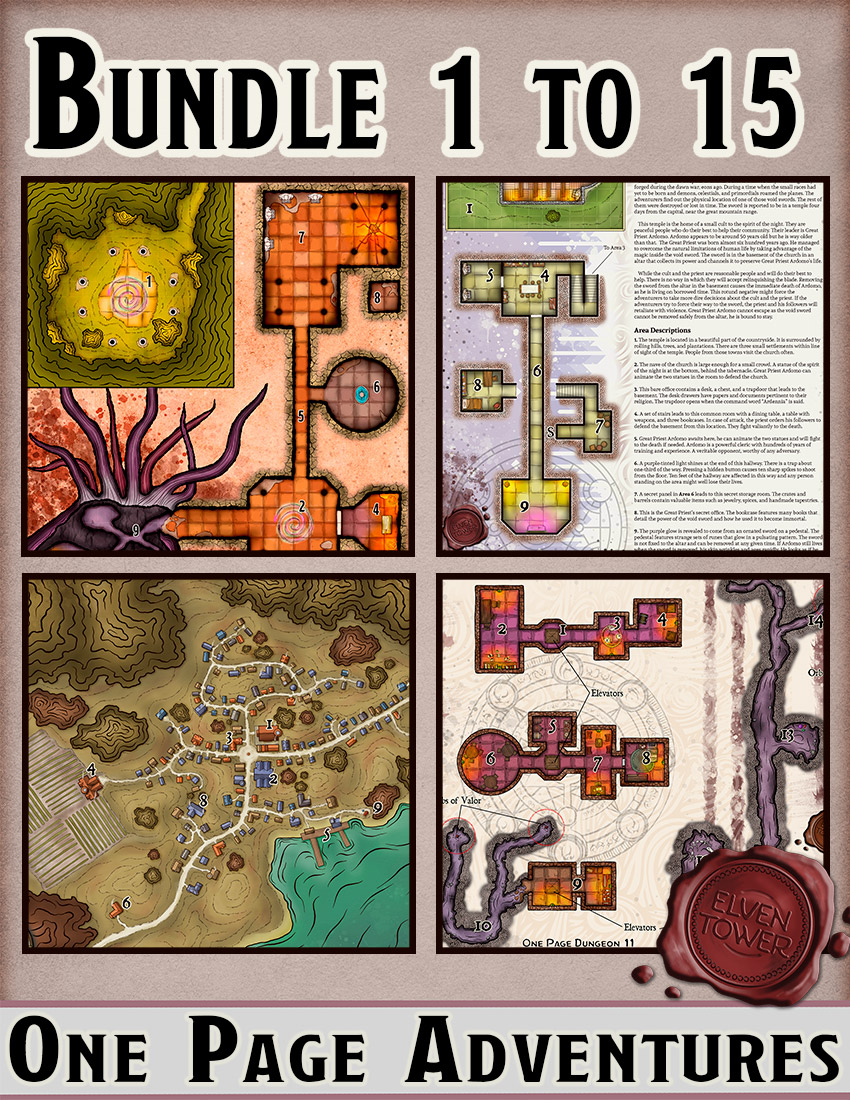 One Page Dungeon Bundle 1-15