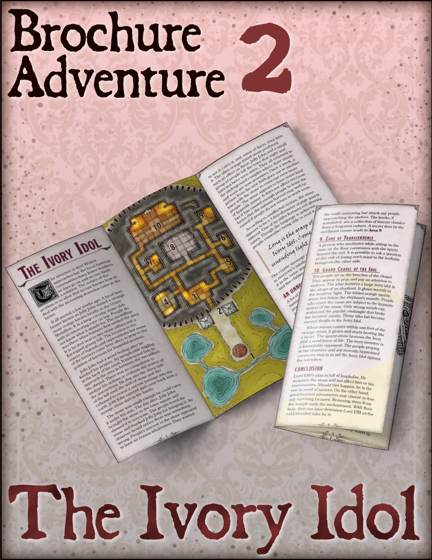 Brochure Adventure #2 – The Ivory Idol