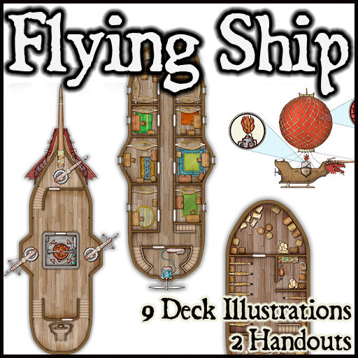 Pack No. 20 – Flying Ship