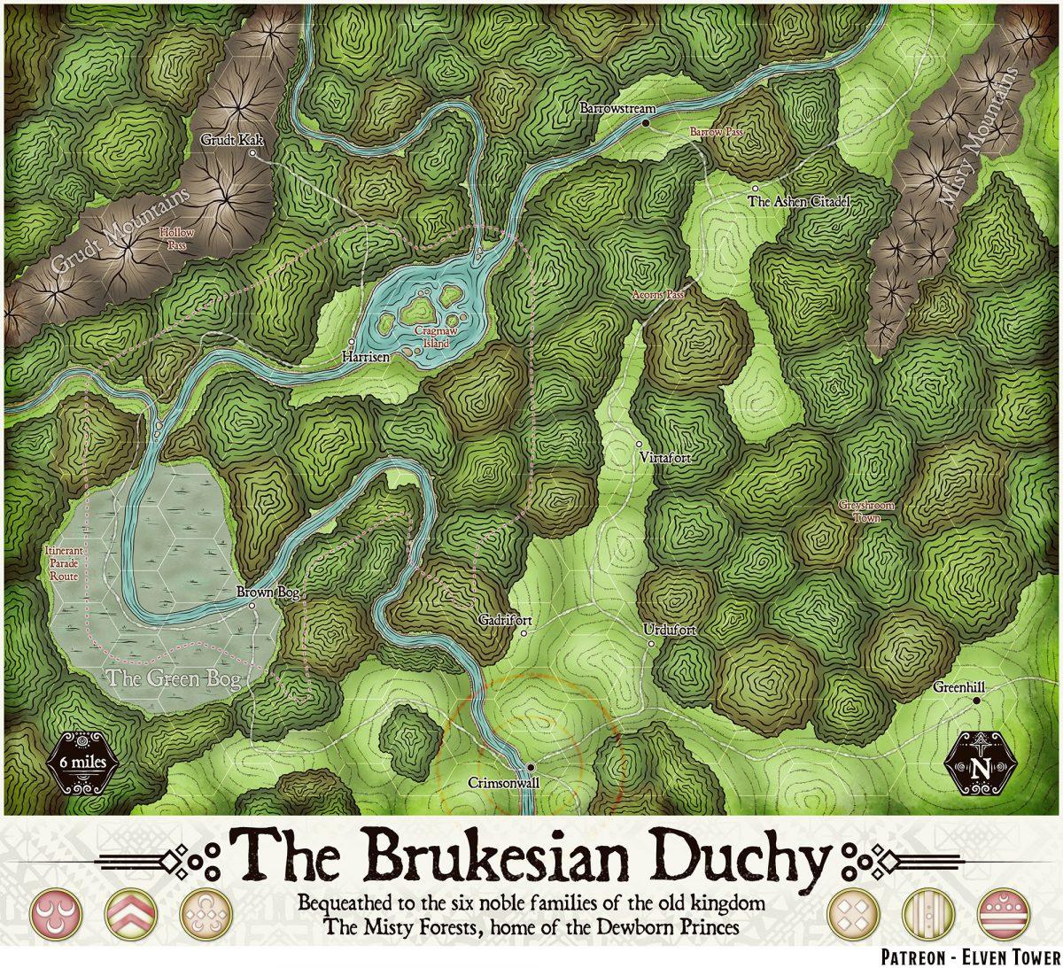Hexcrawl Series No. 1 – The Brukesian Duchy