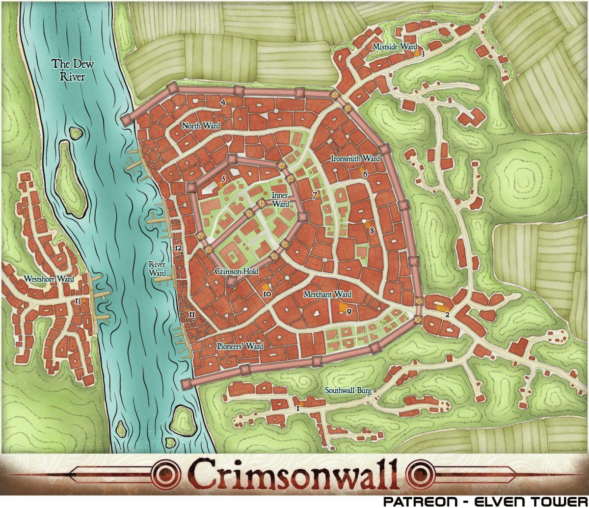 Hexcrawl Series No. 2 – Crimsonwall