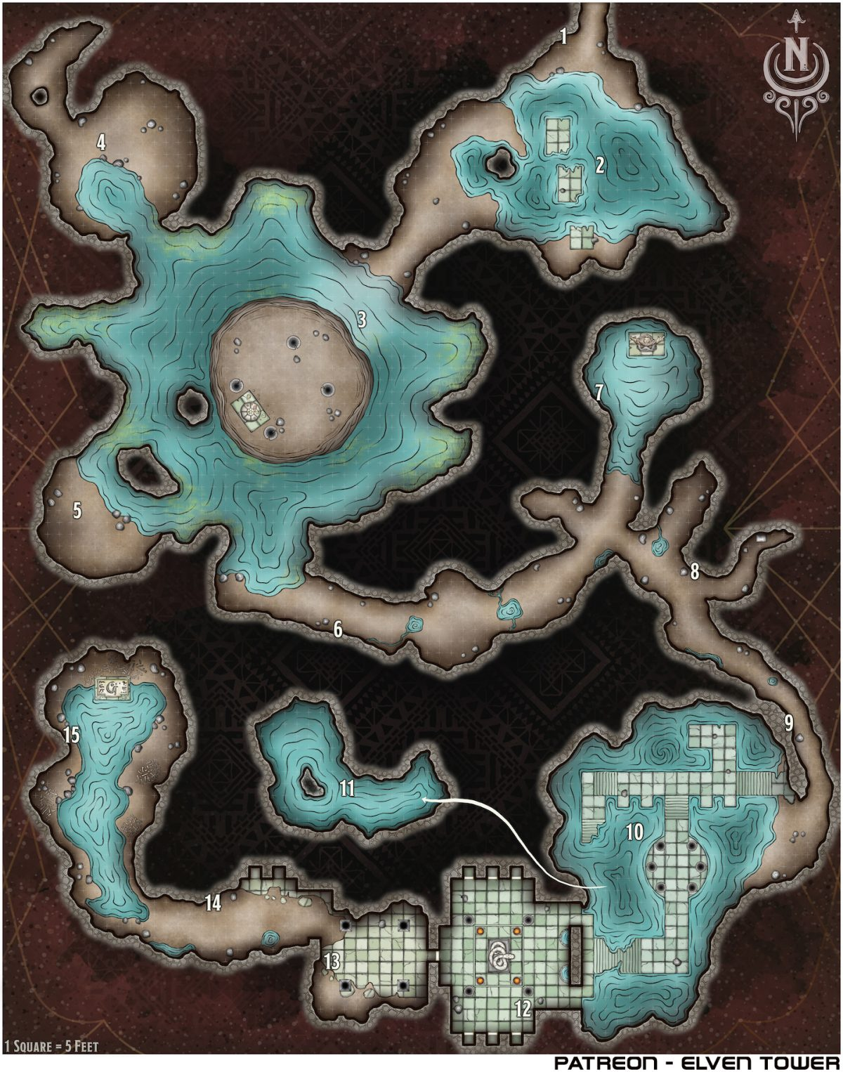 Hexcrawl Series No. 3 – Flooded Dewborn Temple