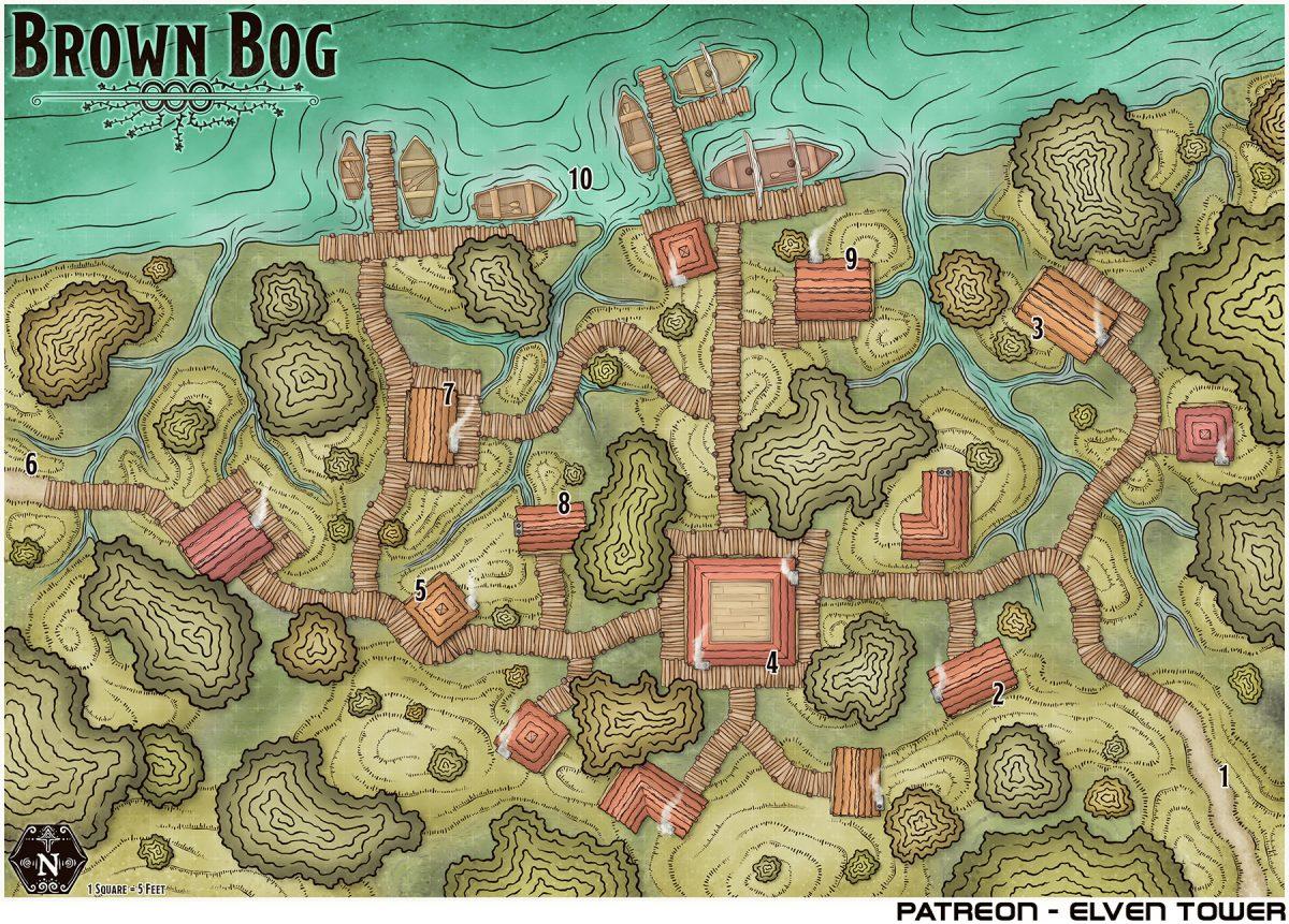 Hexcrawl Series No. 5 – Brown Bog