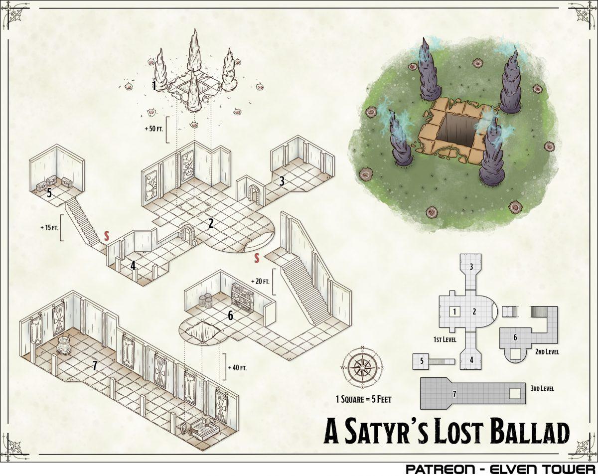 Hexcrawl Series No. 6 – A Satyr's Lost Ballad