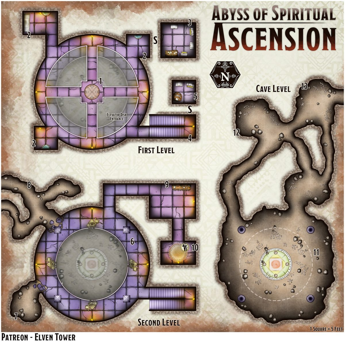 Hexcrawl Series No. 7 – Abyss of Spiritual Ascension