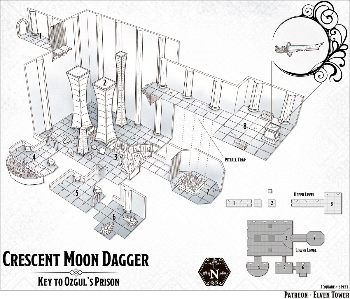 Hexcrawl Series No. 9 – Crescent Moon Dagger Vault
