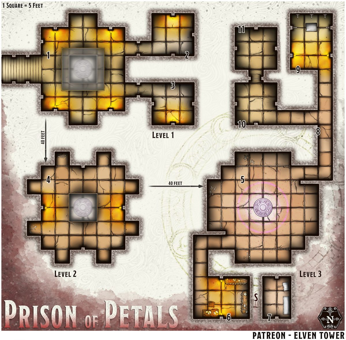 Hexcrawl Series No. 13 – Prison of Petals